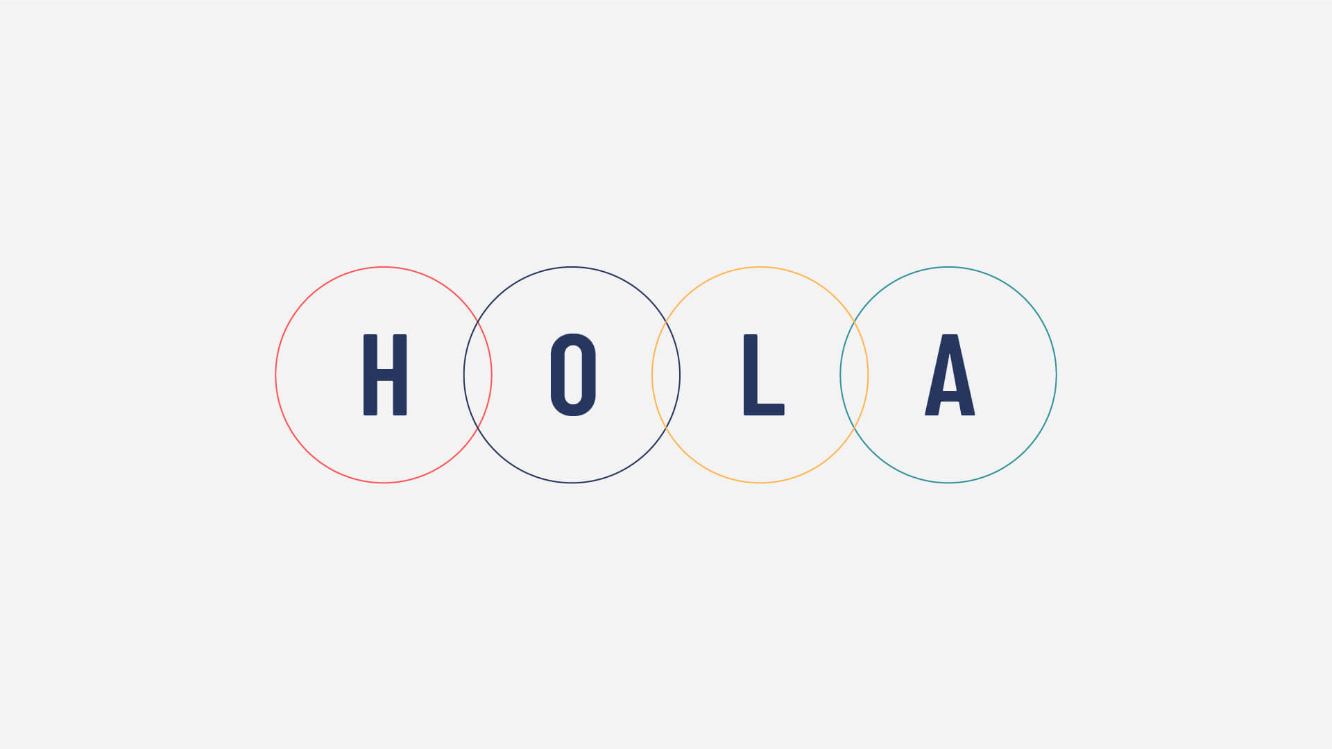 HOLA letters