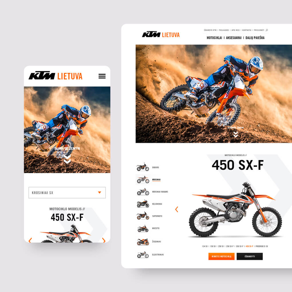 KTM project landing featured image